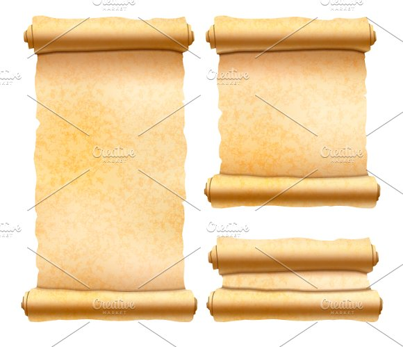 Old Textured Papyrus Scrolls