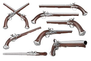Pistol gun weapon set