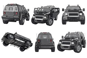 Suv car automobile set