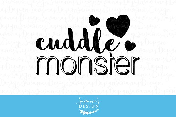 Cuddle Monster SVG Cut Files