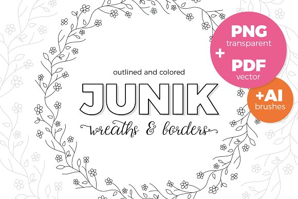 Junik Wreaths Borders