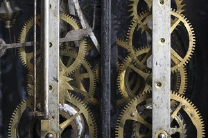 Mechanism of an old pendulum clock
