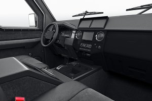 Car interior dashboard leather