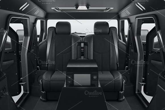 Car Interior Black Seats