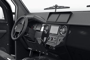Car dashboard interior black
