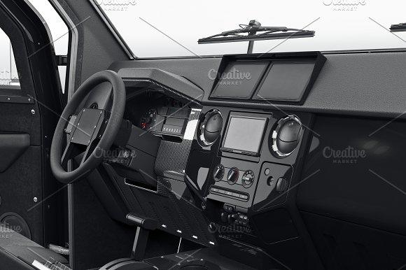 Car Dashboard Interior Black