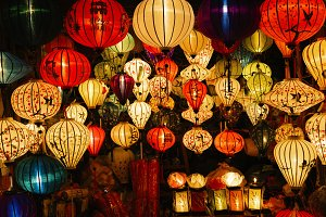 Traditional lamps in Hoi An.
