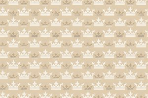 Crown, pattern background
