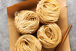 fresh asian noodles.