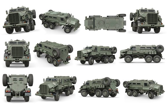 Truck Military Army Transport Set