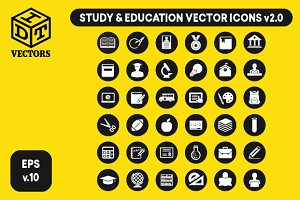 Study & Education Vector (Icons)