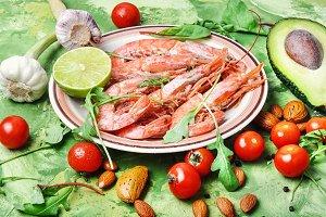 large prawns