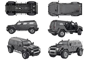 Suv car auto set