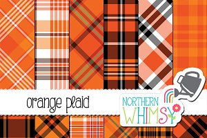 Orange Plaid Patterns