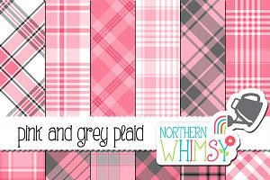 Pink and Grey Plaid