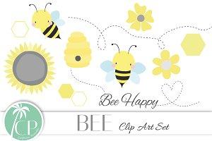 Bee Clip Art Set