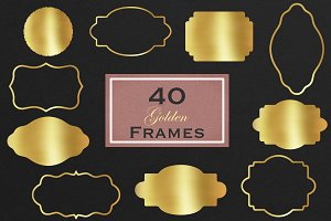 Decorative gold frames clipart