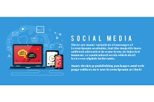 Banner with Social Media Item Icons
