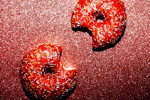 donut. Sparkling. Creative