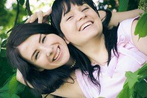 Two sisters selfie