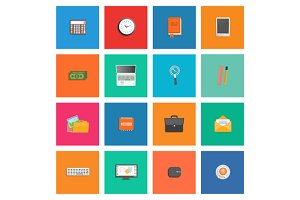 Set of Various Office Service Icons