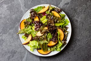 Lettuce plums salad