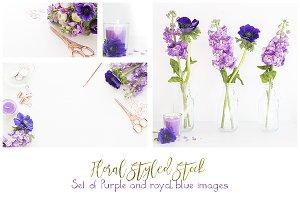 Royal Blue and purple flowers bundle