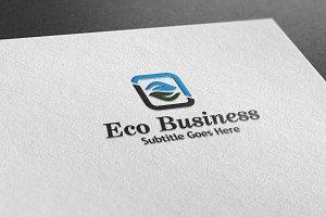 Eco Business Style Logo