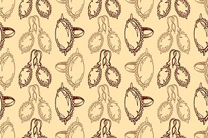 Jewelry seamless pattern vector