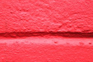 Stucco Wall Detail in Red