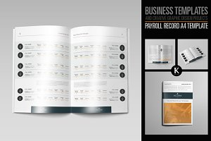 Payroll Record A4 Template