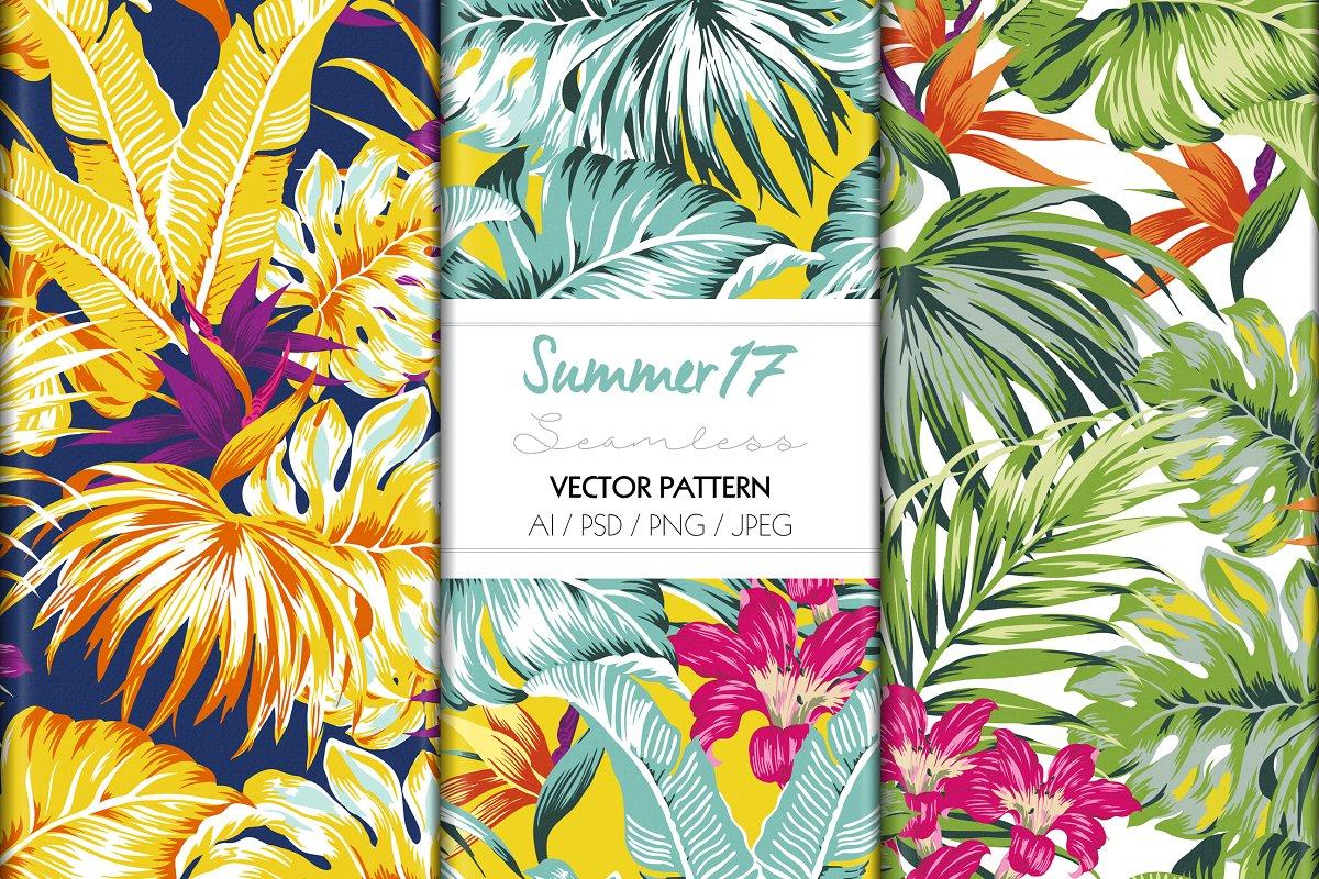72ff19cb7 TROPICAL SUMMER PRINT ~ Graphic Patterns ~ Creative Market