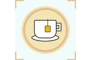 Teacup color icon