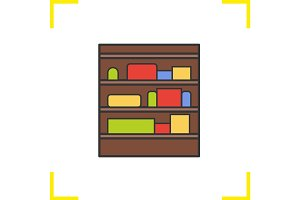Shop shelves color icon