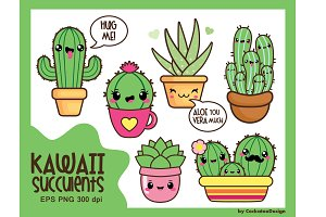 Kawaii succulents