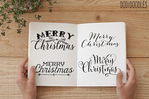 Christmas Text Overlays