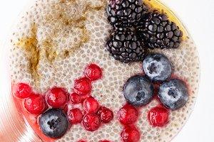 Eating healthy breakfast bowl.