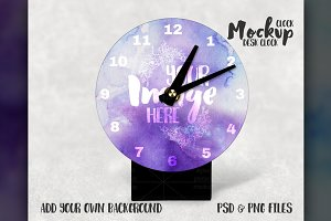Sublimation desk clock mockup