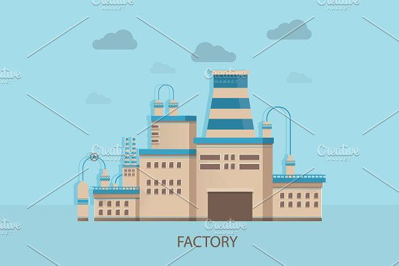 Factory Of Manufacturing Products