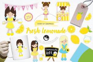 Fresh Lemonade illustration pack