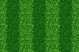 Striped green grass field seamless
