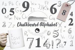 Chalkboard Alphabetillustration pack