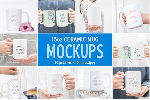 15oz Ceramic Mug Mockup Bundle