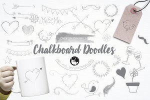 Chalkboard Doodles illustration pack