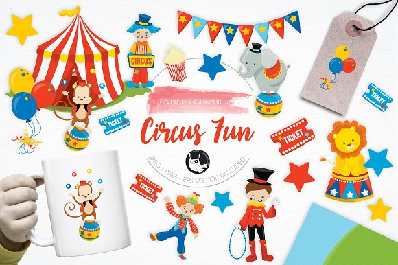 Circus Fun Illustration Pack