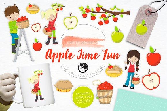 Apple Time Fun Illustration Pack
