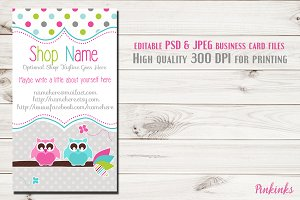 Owl Business Card Template