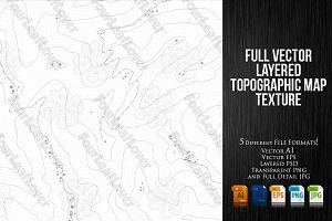 Regular Topographic Map Texture