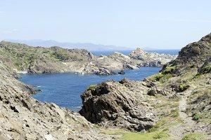 Lonely bay at mediterranean sea