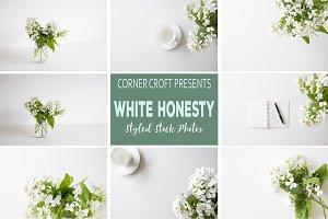 White Honesty Stock Photo Bundle